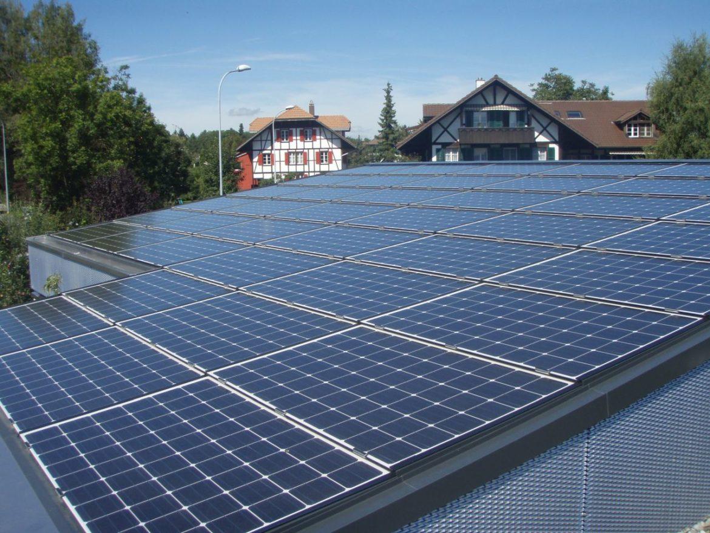 Flachdachsanierung Münsingen 10 kWp