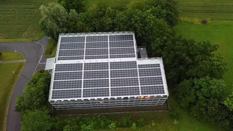 Parkhausdach Spital Muri 203 kWp
